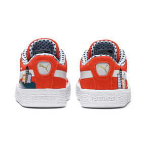Thumbnail 3 of Sesame Street 50 Suede Sneakers INF, Cherry Tomato-Puma White, medium