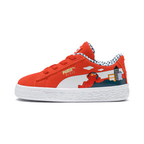 Thumbnail 1 of Sesame Street 50 Suede Sneakers INF, Cherry Tomato-Puma White, medium