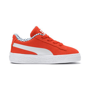 Thumbnail 5 of Sesame Street Suede Babies' Trainers, Cherry Tomato-Puma White, medium