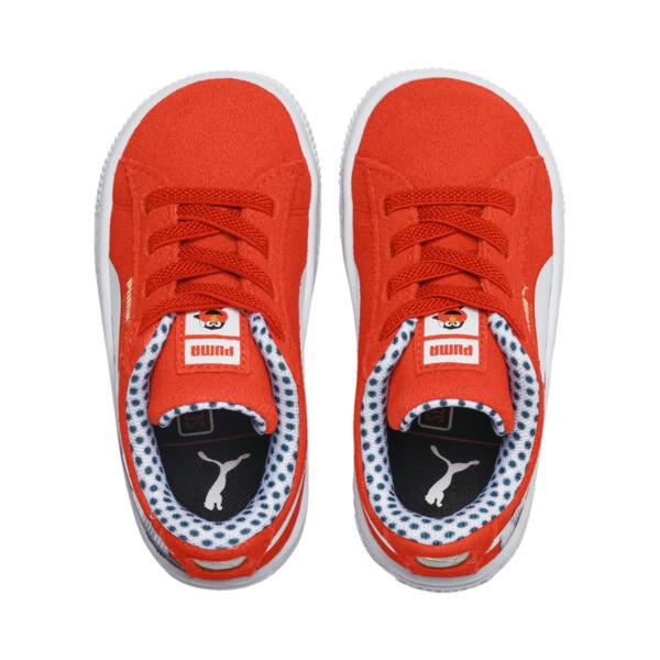 ZapatosSesame Street50Suede para bebés, Cherry Tomato-Puma White, grande