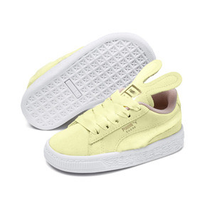 Thumbnail 2 of Suede Easter Kids' Trainers, YELLOW-Coral Cloud-Gold, medium