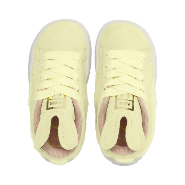 Suede Easter Kids' Trainers, YELLOW-Coral Cloud-Gold, large