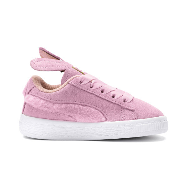 Suede Easter Kids' Trainers, Pale Pink-Coral Cloud, large