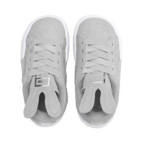 Thumbnail 6 of Suede Easter Kids' Trainers, Glacier Gray-Coral Cloud, medium