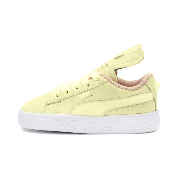 Suede Easter Alternate Closure Babies' Trainers, YELLOW-Coral Cloud-Gold, large