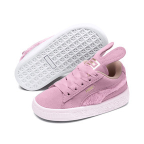Thumbnail 2 of Suede Easter Alternate Closure Baby Sneaker, Pale Pink-Coral Cloud, medium