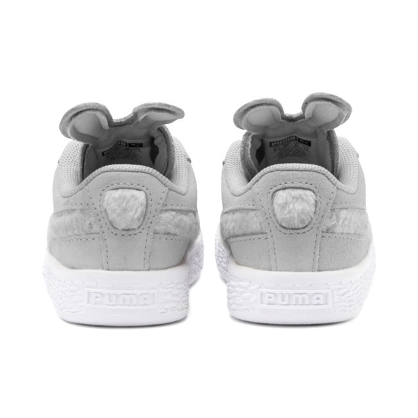 Suede Easter Alternate Closure Babies' Trainers, Glacier Gray-Coral Cloud, large