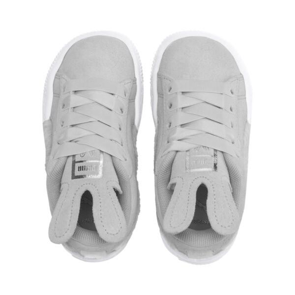 Zapatos Suede Easter AC para bebé, Glacier Gray-Coral Cloud, grande