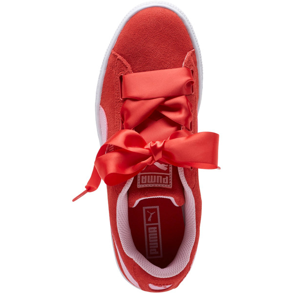 Suede Heart Radicals Sneakers JR, Hibiscus -Pale Pink, large