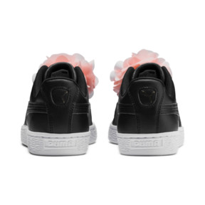 Thumbnail 3 of Basket Flower Girls' Trainers, Puma Black-Peach Bud, medium