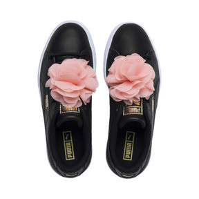 Thumbnail 6 of Basket Flower Girls' Trainers, Puma Black-Peach Bud, medium