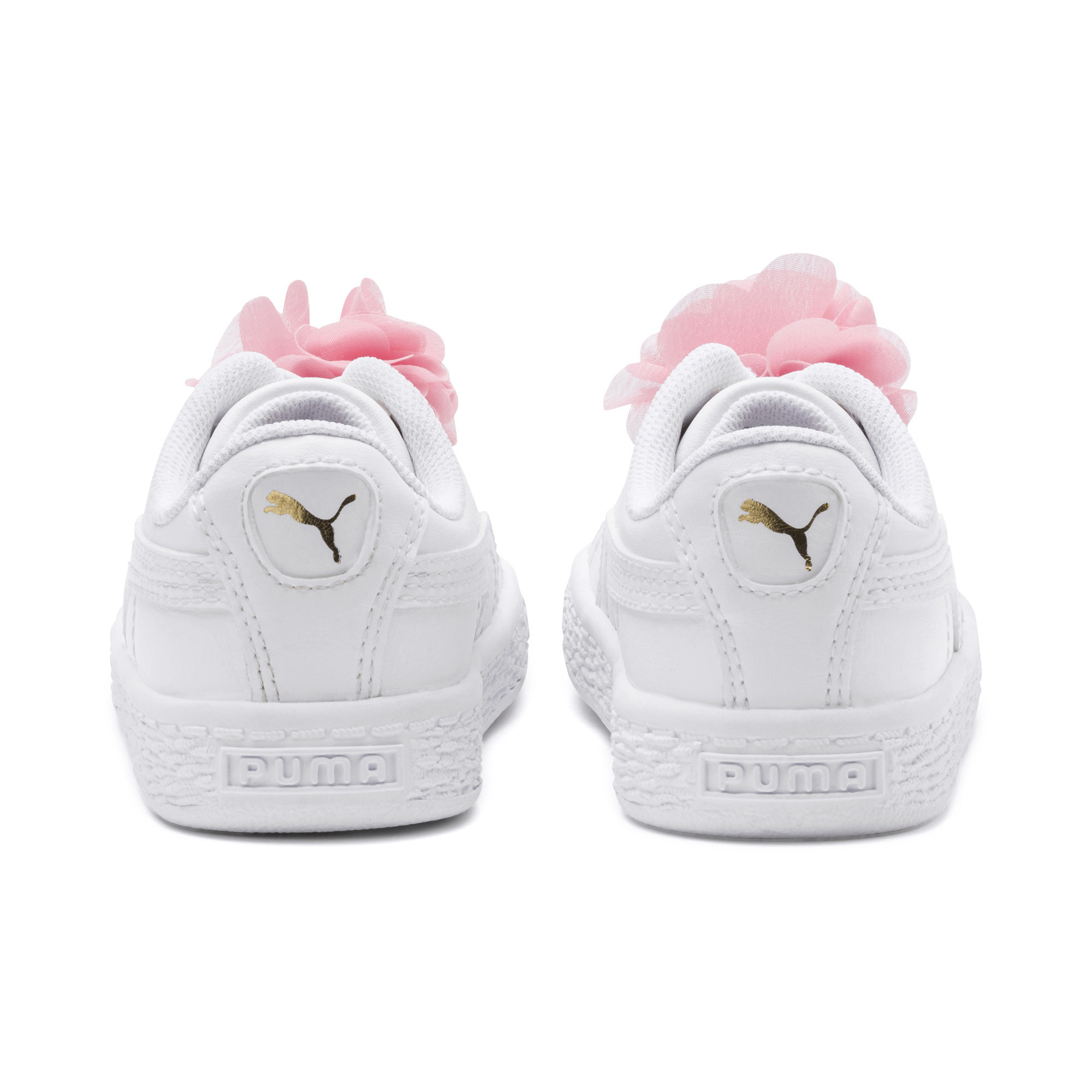 Image Puma Basket Flower Baby Sneakers #3