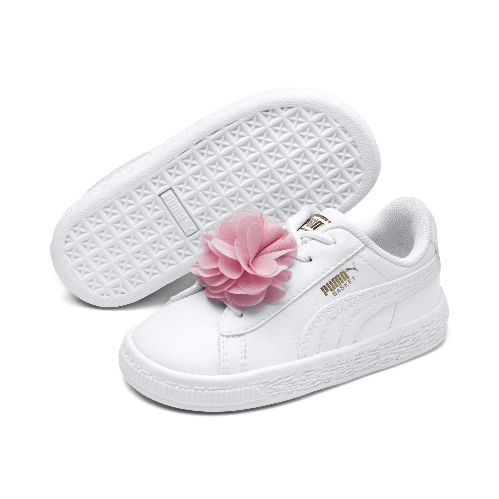 Image Puma Basket Flower Baby Sneakers #2