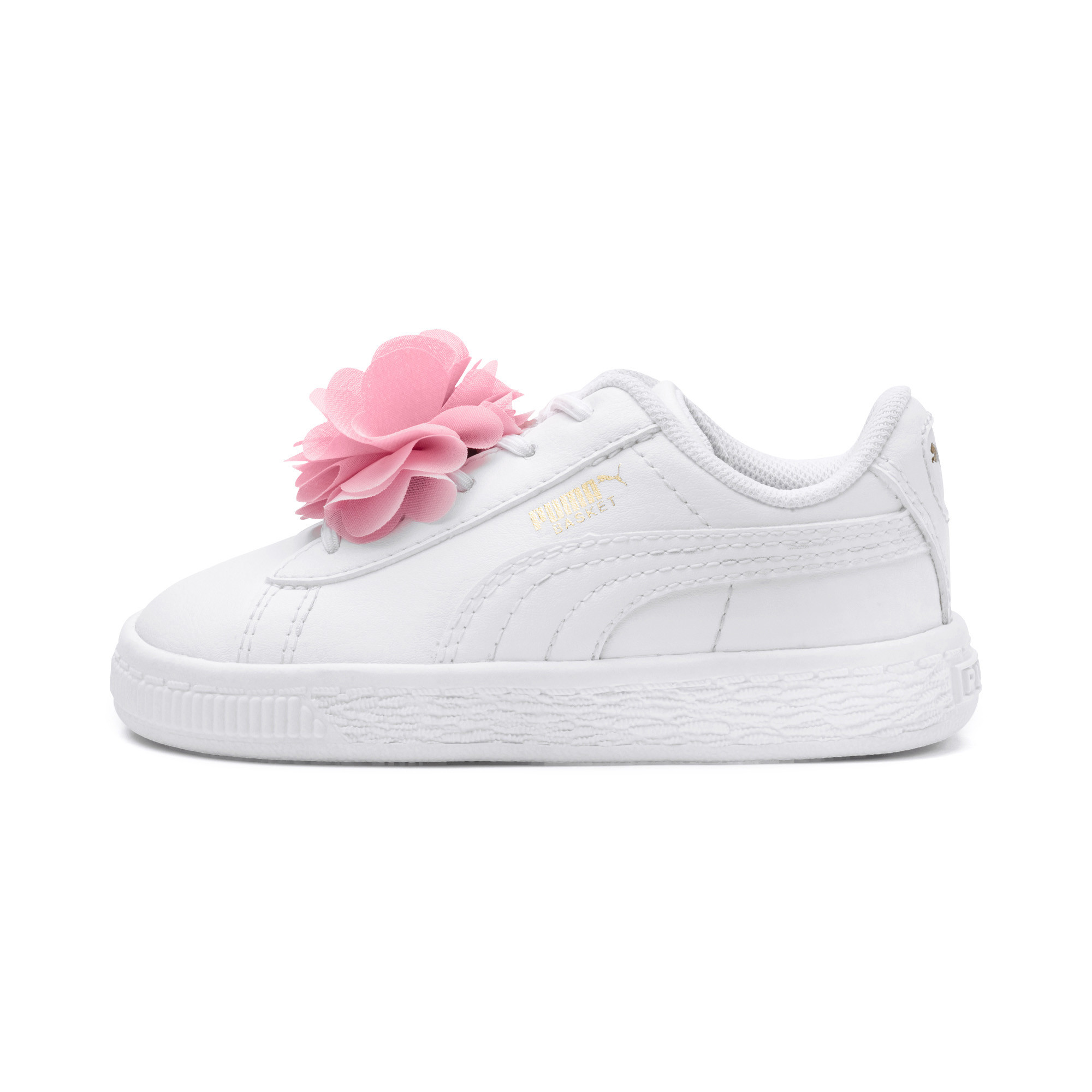Image Puma Basket Flower Baby Sneakers #1