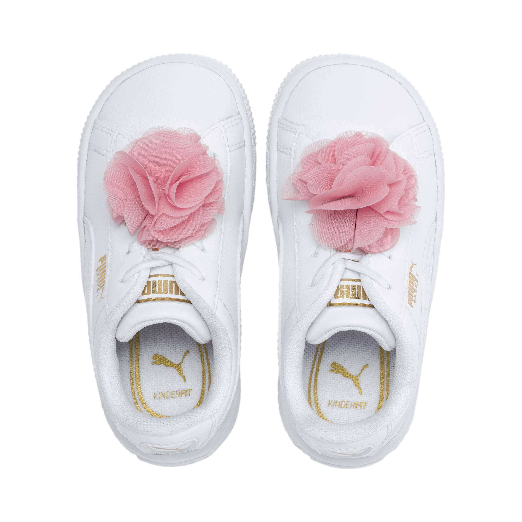 Image Puma Basket Flower Baby Sneakers #6