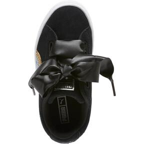 Thumbnail 5 of Suede Heart Trailblazer Sequin Sneakers INF, Puma Black-Puma Team Gold, medium