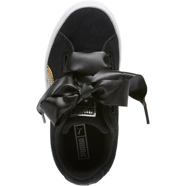 Suede Heart Trailblazer Sequin Sneakers INF, Puma Black-Puma Team Gold, large