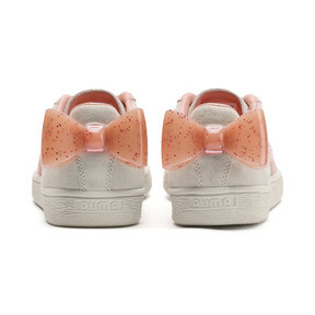 Thumbnail 3 of Suede Bow Jelly Girls' Trainers, Whis White-Peach Bud-Silver, medium