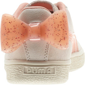 Thumbnail 3 of Suede Jelly Bow Sneakers JR, Whis White-Peach Bud-Silver, medium