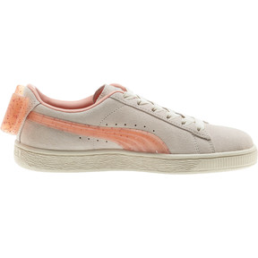 Thumbnail 4 of Suede Jelly Bow Sneakers JR, Whis White-Peach Bud-Silver, medium