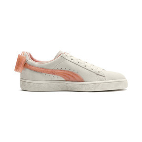 Thumbnail 5 of Suede Bow Jelly Girls' Trainers, Whis White-Peach Bud-Silver, medium