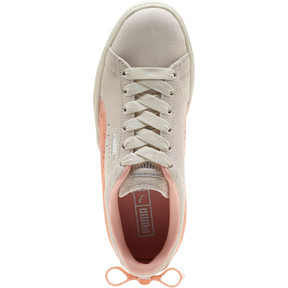 Thumbnail 5 of Suede Jelly Bow Sneakers JR, Whis White-Peach Bud-Silver, medium