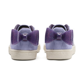 Thumbnail 3 of Suede Bow Jelly Girls' Trainers, SweetLavender-Indigo-White, medium