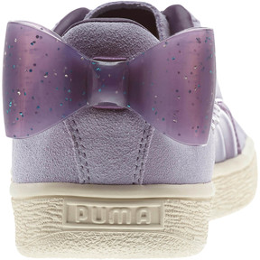 Thumbnail 3 of Suede Jelly Bow Sneakers JR, SweetLavender-Indigo-White, medium