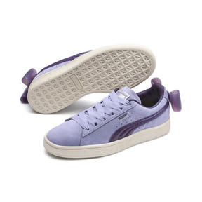 Thumbnail 2 of Suede Bow Jelly Girls' Trainers, SweetLavender-Indigo-White, medium