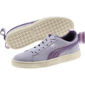 Thumbnail 2 of Suede Jelly Bow Sneakers JR, SweetLavender-Indigo-White, medium