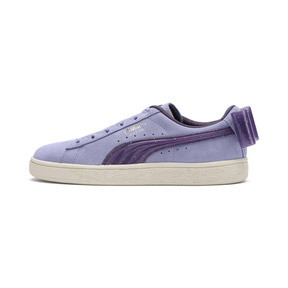 Thumbnail 1 of Suede Bow Jelly Girls' Trainers, SweetLavender-Indigo-White, medium