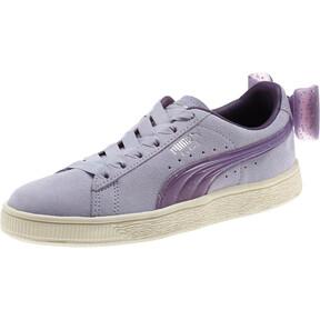 Thumbnail 1 of Suede Jelly Bow Sneakers JR, SweetLavender-Indigo-White, medium