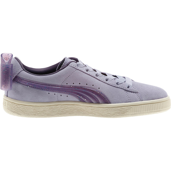 Suede Jelly Bow Sneakers JR, SweetLavender-Indigo-White, large