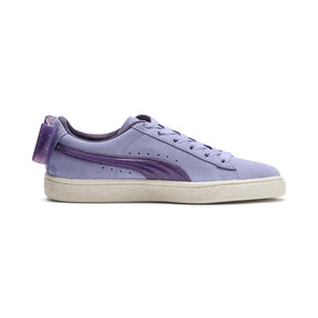 Thumbnail 5 of Suede Bow Jelly Girls' Trainers, SweetLavender-Indigo-White, medium