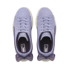 Thumbnail 6 of Suede Bow Jelly Girls' Trainers, SweetLavender-Indigo-White, medium
