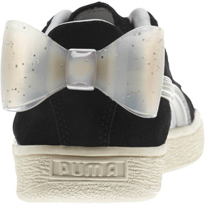 Thumbnail 3 of Suede Jelly Bow Sneakers JR, Puma Black-Glac Gray-Silver, medium