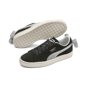 Thumbnail 2 of Suede Bow Jelly Girls' Trainers, Puma Black-Glac Gray-Silver, medium