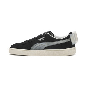 Thumbnail 1 of Suede Bow Jelly Girls' Trainers, Puma Black-Glac Gray-Silver, medium