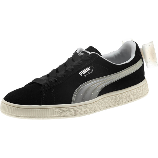 Suede Jelly Bow Sneakers JR, Puma Black-Glac Gray-Silver, large