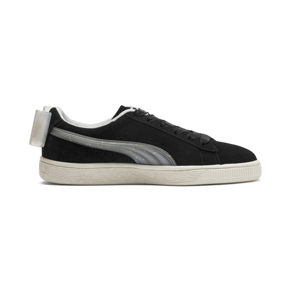 Suede Bow Jelly Girls' Trainers, Puma Black-Glac Gray-Silver, large