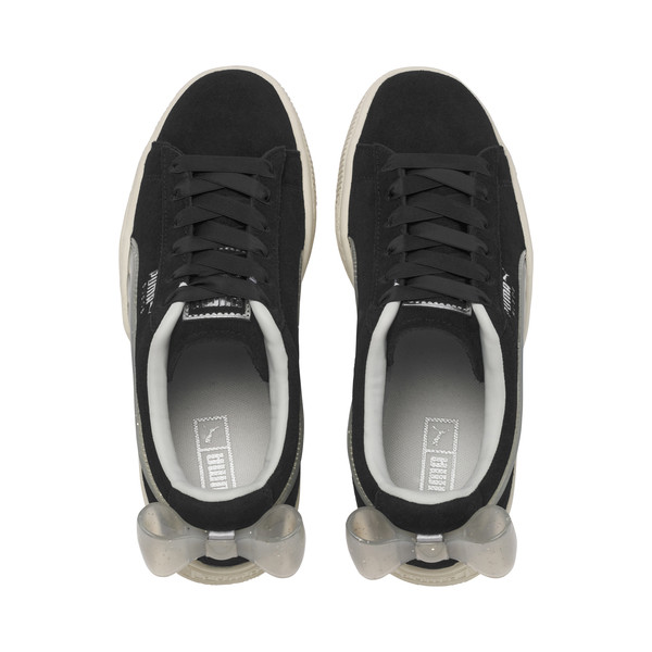 Basket Suede Bow Jelly pour fille, Puma Black-Glac Gray-Silver, large