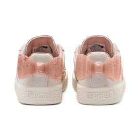 Thumbnail 3 of Suede Jelly Bow AC Sneakers PS, Whis White-Peach Bud-Silver, medium