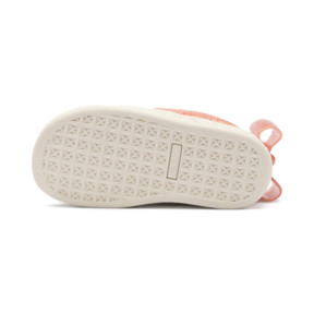 Thumbnail 4 of Suede Jelly Bow AC Sneakers PS, Whis White-Peach Bud-Silver, medium