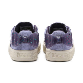 Thumbnail 3 of Suede Jelly Bow AC Sneakers PS, SweetLavender-Indigo-White, medium