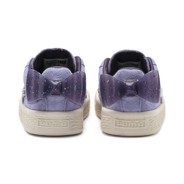 Suede Jelly Bow AC Sneakers PS, SweetLavender-Indigo-White, large