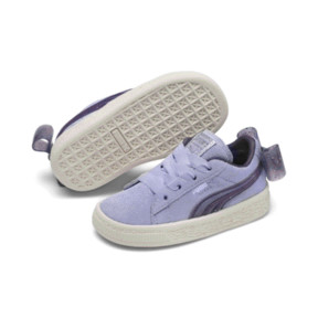 Thumbnail 2 of Suede Jelly Bow AC Sneakers PS, SweetLavender-Indigo-White, medium