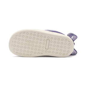 Thumbnail 4 of Suede Jelly Bow AC Sneakers PS, SweetLavender-Indigo-White, medium