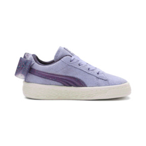 Thumbnail 5 of Suede Jelly Bow AC Sneakers PS, SweetLavender-Indigo-White, medium