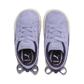 Thumbnail 6 of Suede Jelly Bow AC Sneakers PS, SweetLavender-Indigo-White, medium