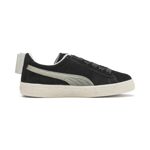 Suede Jelly Bow AC Sneakers PS, Puma Black-Glac Gray-Silver, large